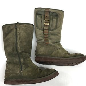 UGG Cargo Pocket Tall Olive Green Boots Size 9